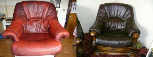 Leather Chair Re-coloured