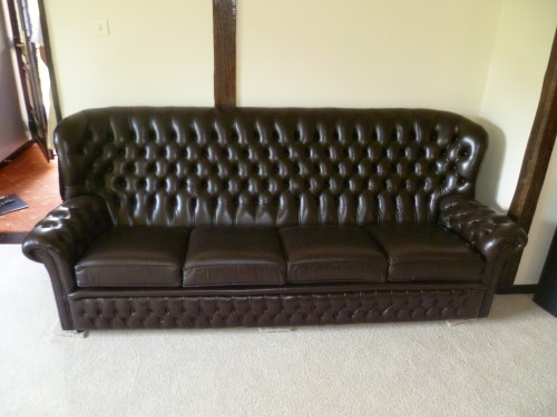 Leather Sofa after re-colouring