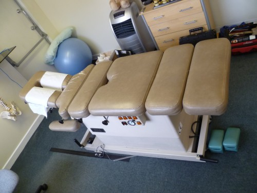 Osteopath Bench before recovering